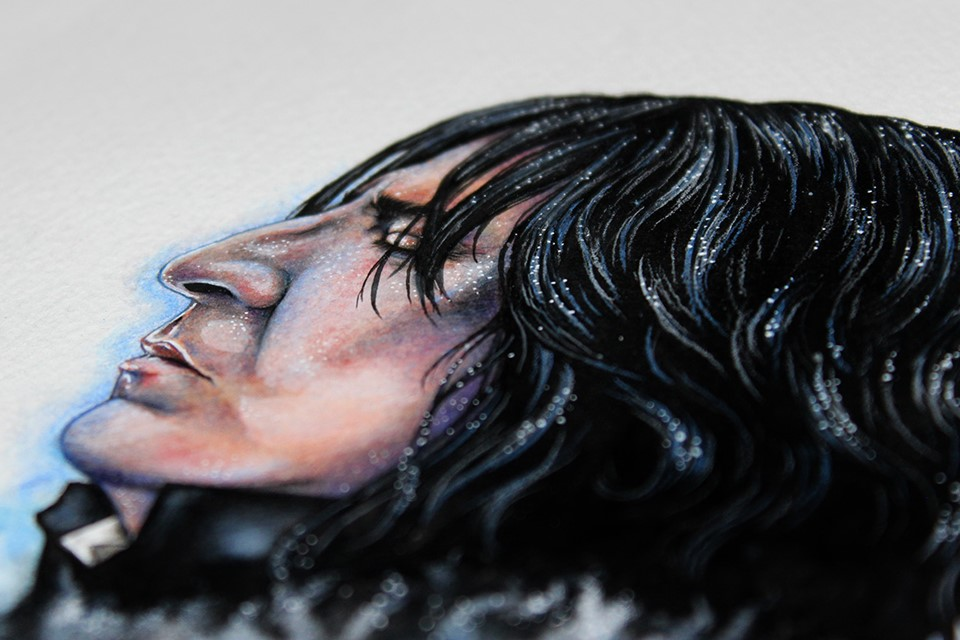 Severus Snape fan art by Holly Khraibani