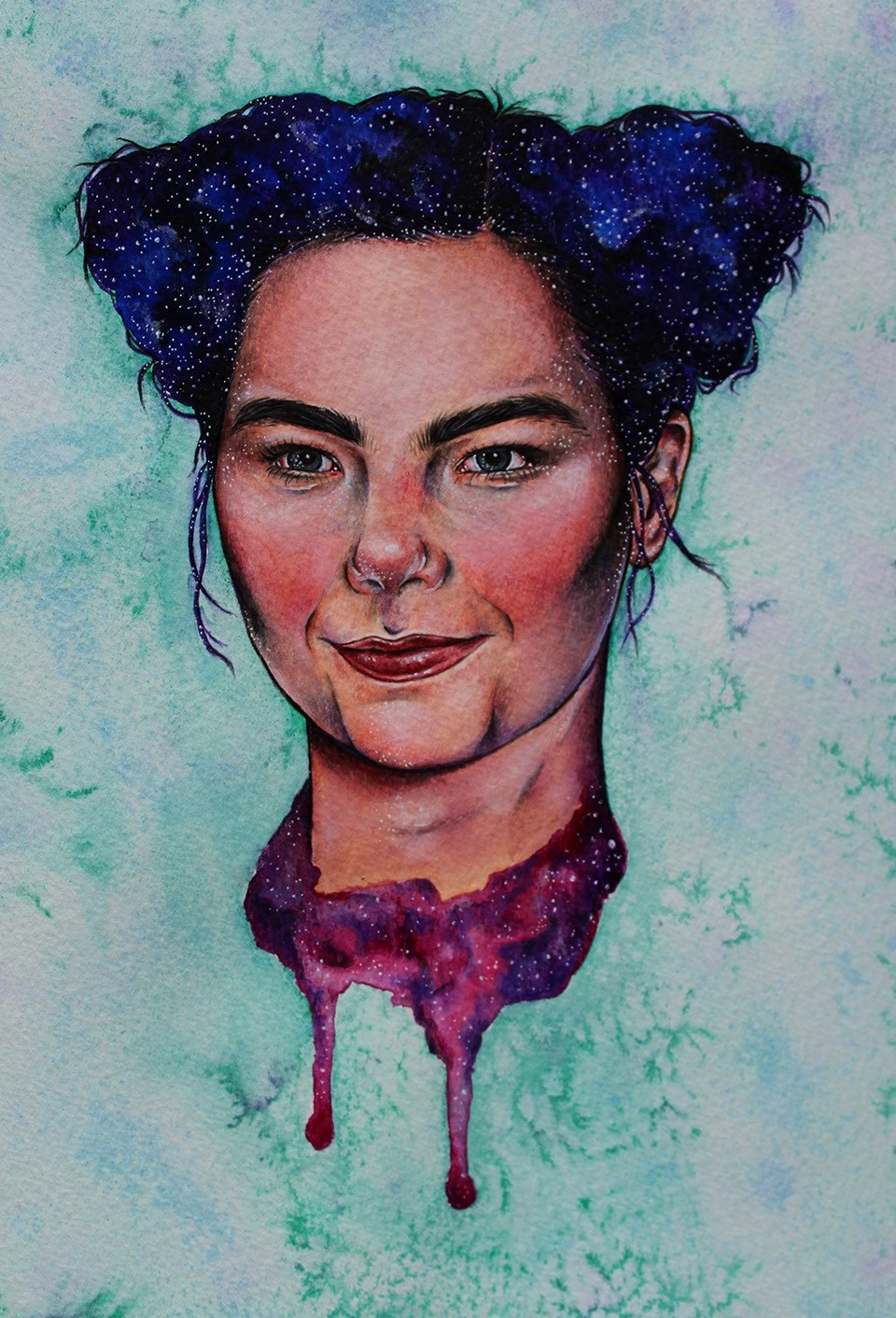 Bjork Fan Art by Illustrator Holly Khraibani
