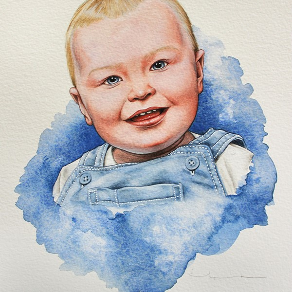 Portrait of a Baby Son