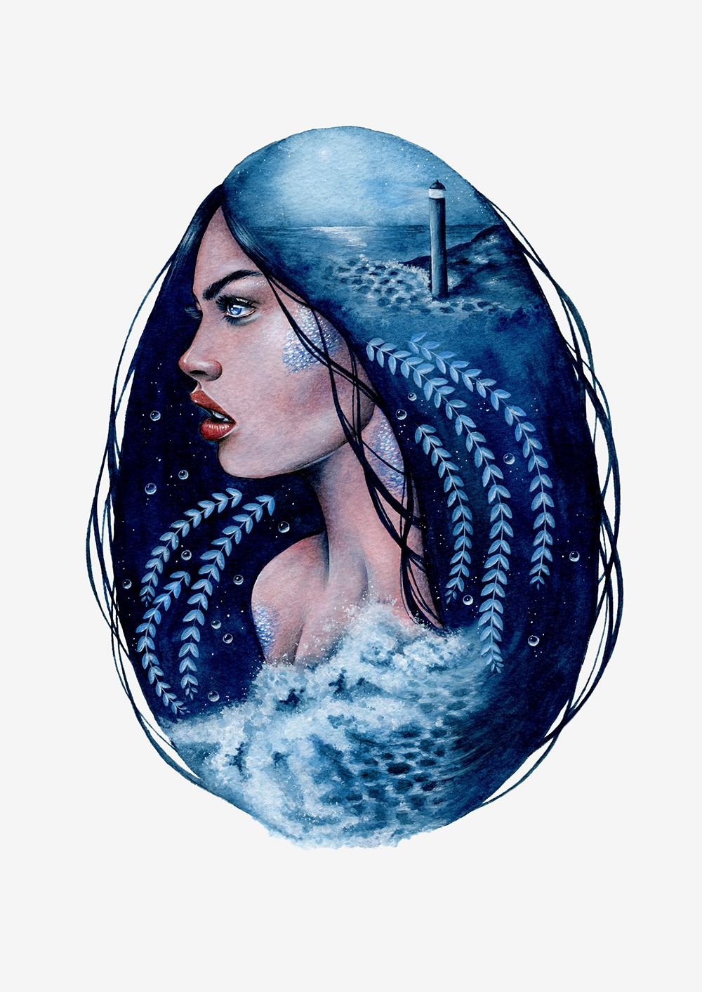 Siren - A Double Exposure Effect Illustration
