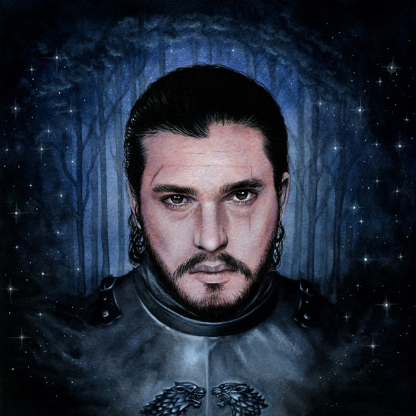 Jon Snow Portrait Illustration