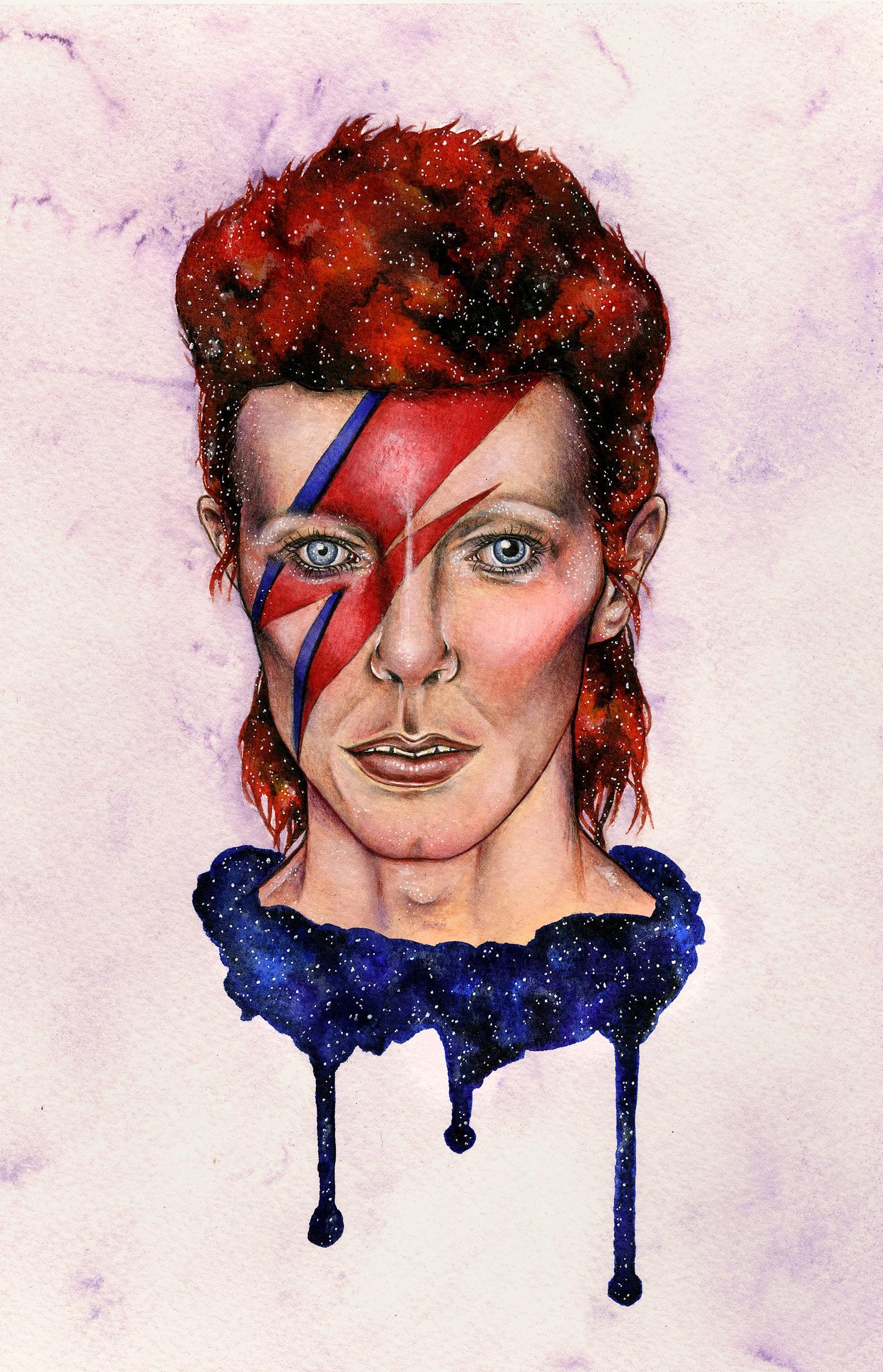 Ziggy Stardust - A Birthday Tribute to David Bowie by the illustrator Holly Khraibani