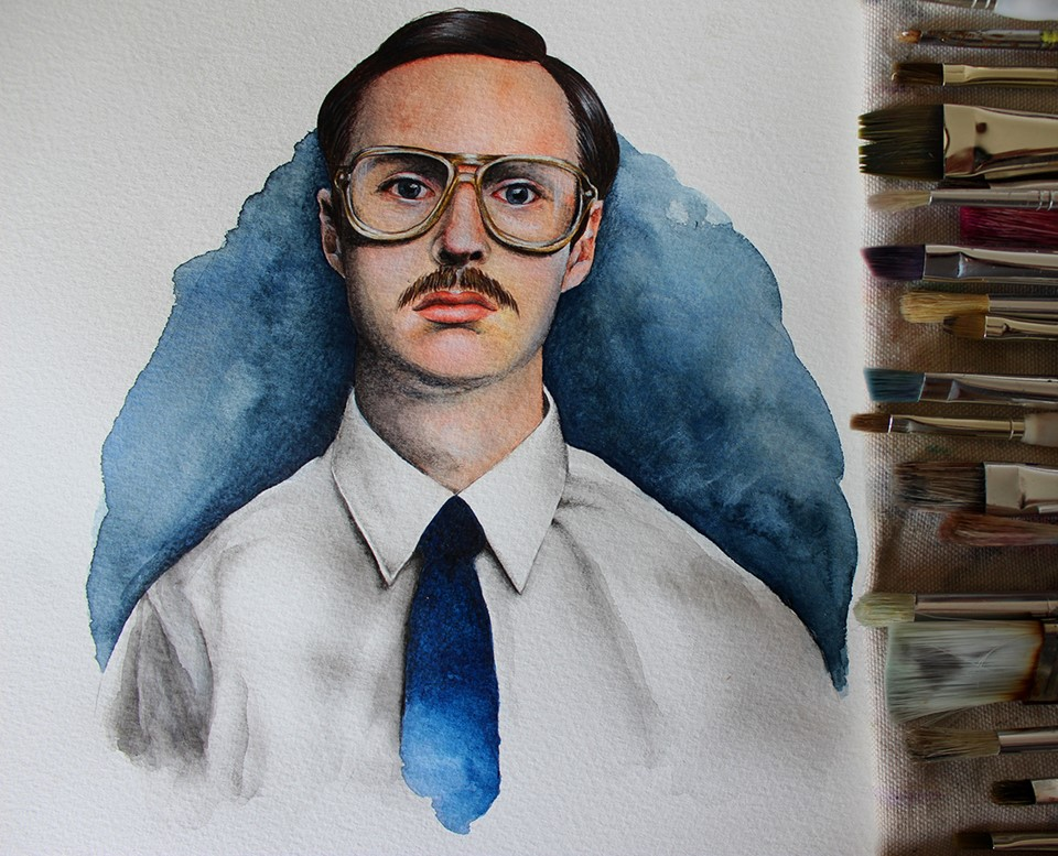Kip Dynamite fan art by Holly Khraibani