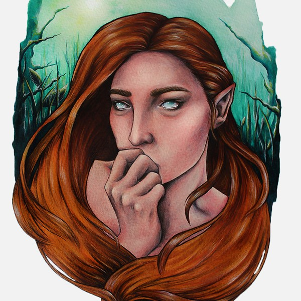 A Female Fantasy Painting By Illustrator Holly Khraibani