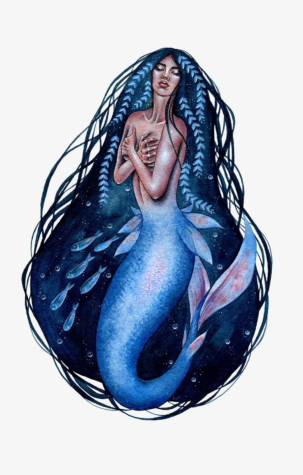 Harbour - Mermaid Illustration