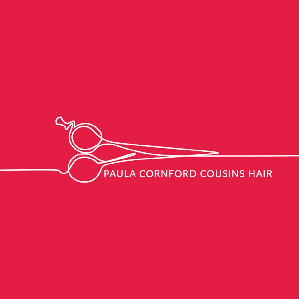 Logo design and identity for Paula Cornford-Cousins Hair by Holly Khraibani